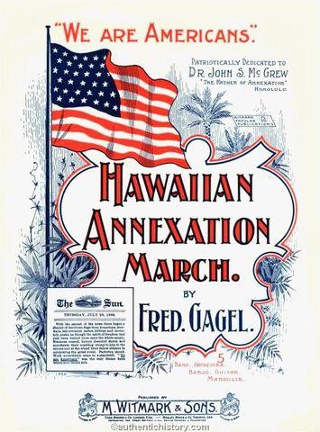 US Annexes Hawaii