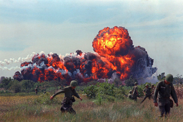 Johnson authorized the use of napalm in Vietnam
