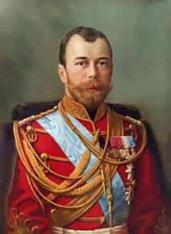Nicholas II becames czar