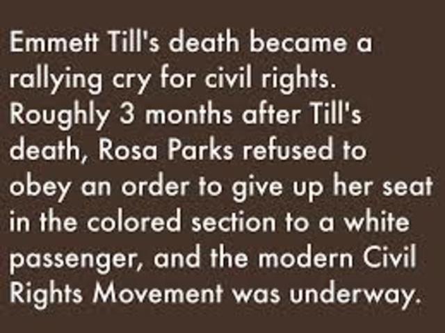 Emmet Till and Rosa Parks