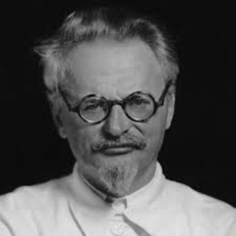 Trotsky into exile