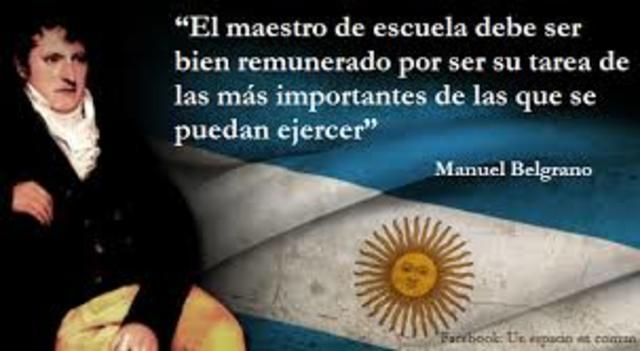 Manuel Belgrano Yy la educación