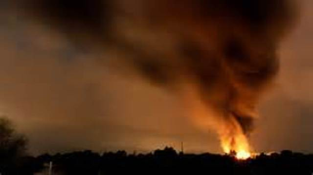 Chemical Storage Area Explodes
