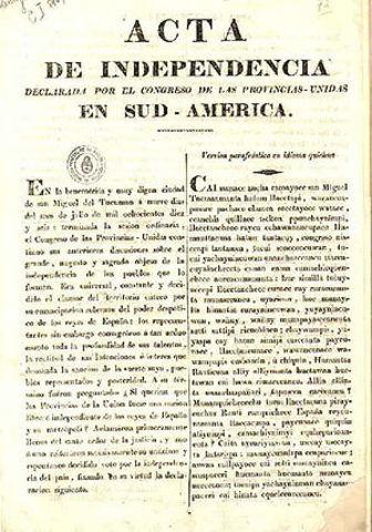 independización de Provincias.