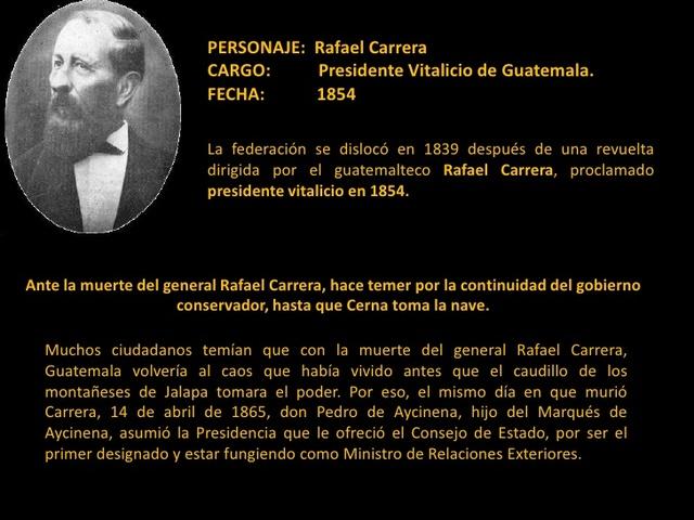 Muere Rafael Carrera