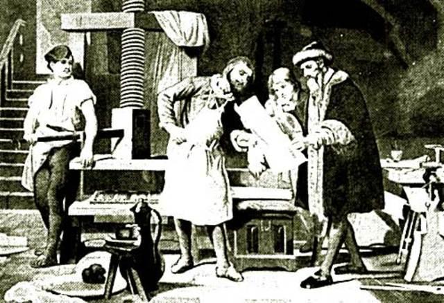 Gutemberg desarrolla la imprenta