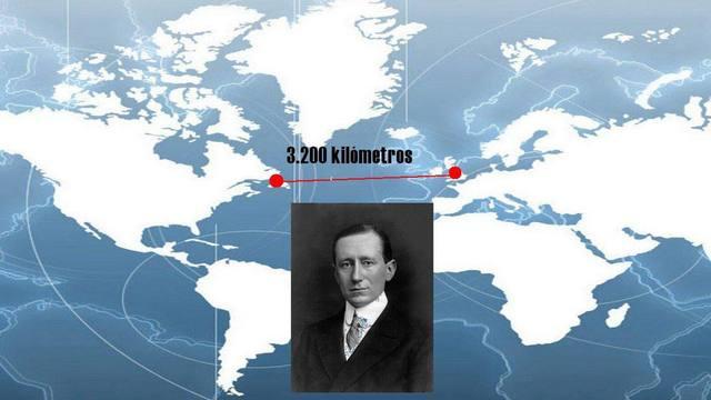 Primera Transmision inalambrica transatlantica