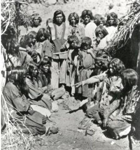 In 500 B.C. first perminant human settlments