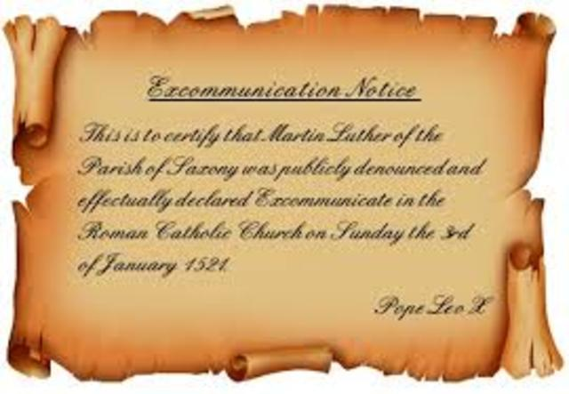 Martin excommunicated