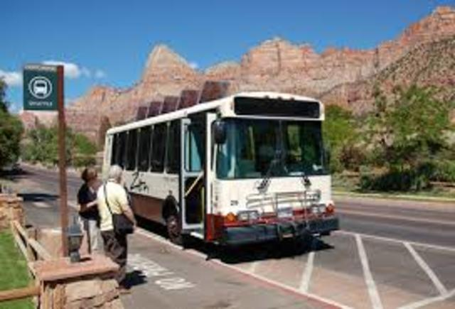 Zion Shuttle Bus 2000