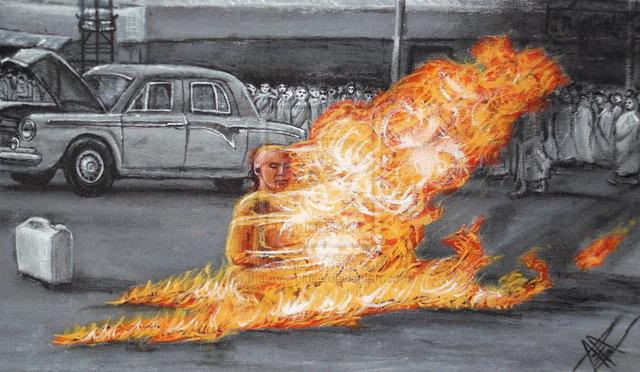 Buddhist Monks Self-Immolate