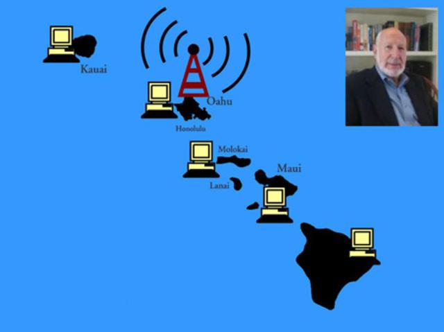 La Universidad de Hawai desarrolla Alohanet