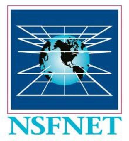 Se crea NSFNET, con una velocidad de backbone 56KBps