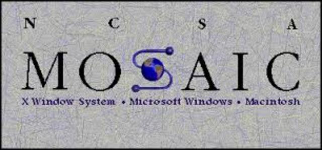 Aparece Mosaic el primer navegador de Web de base gráfica