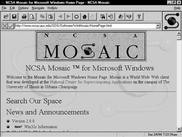 Aparece Mosaic el primer navegador de base gráfica