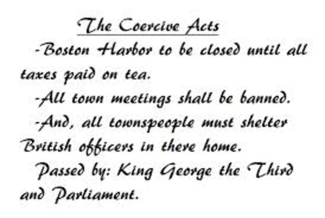 Coersive acts