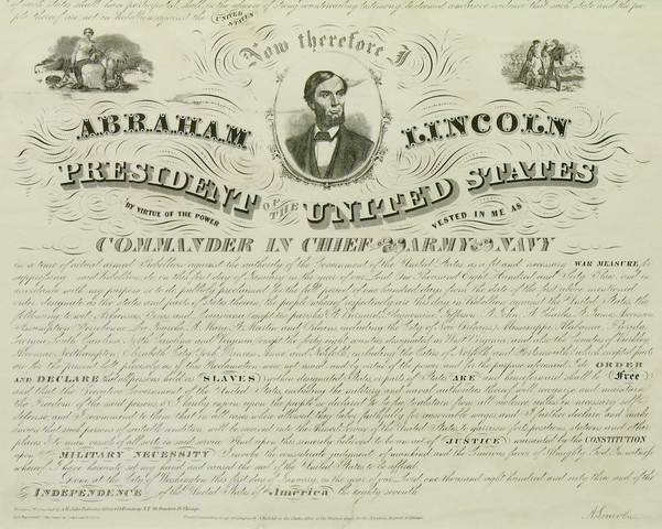 Emancipation Proclamation (Actually on January First!!!)