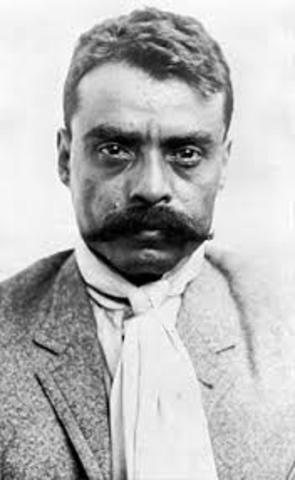 Zapata se levantó en armas contra Madero