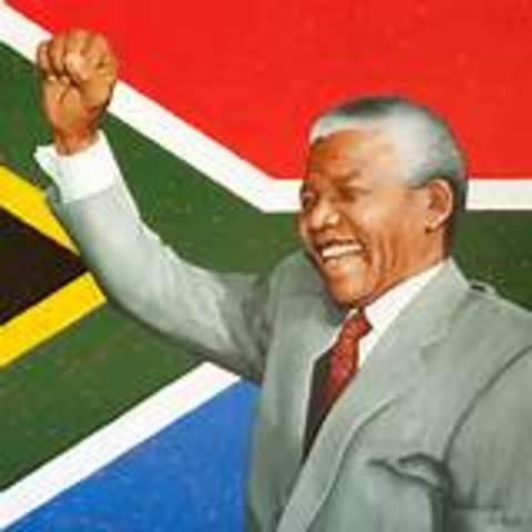 Mandela was elected president of South Africa