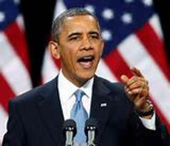 Barack Obama was elected President of the USA. He was the first black president of the American History.