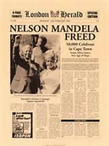 Mandela was freed.