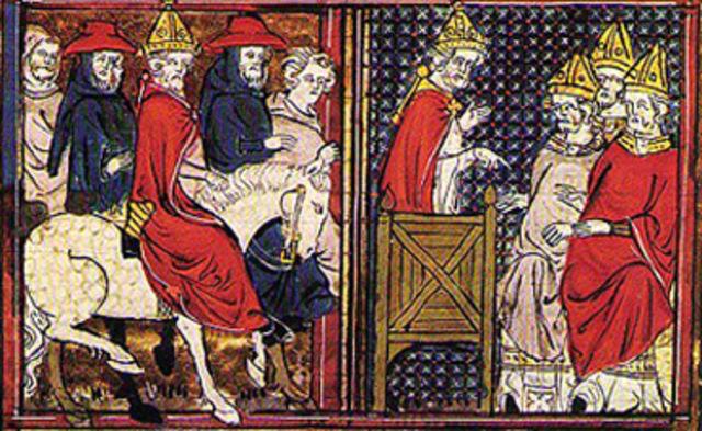Pope Urban II calls to recover Jerusalem
