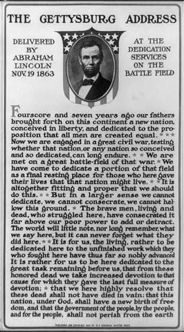 Gettysburg Address is read