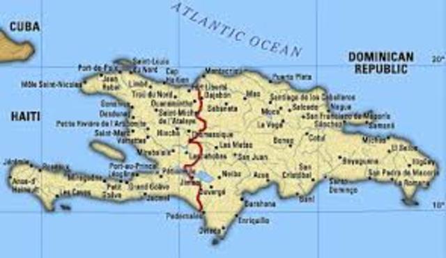 Trujillo establishes a border