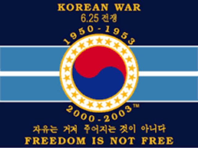The Korean War ends