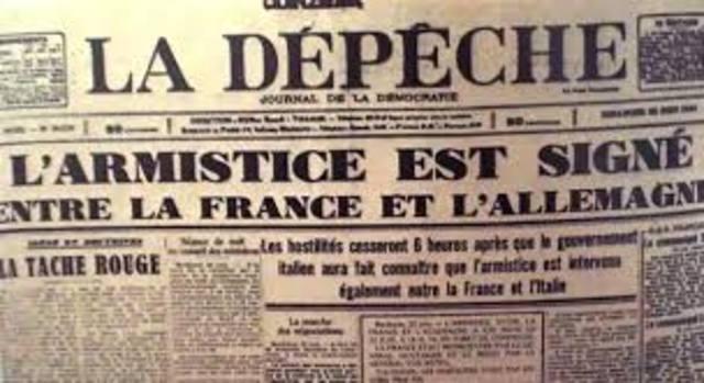 França signa un armistici amb Alemanya