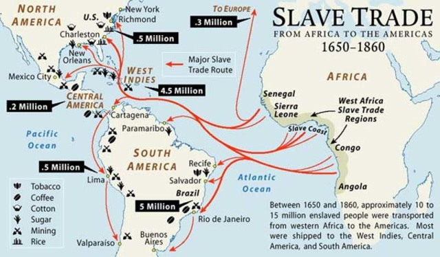 First African slaves transported to Caribbean