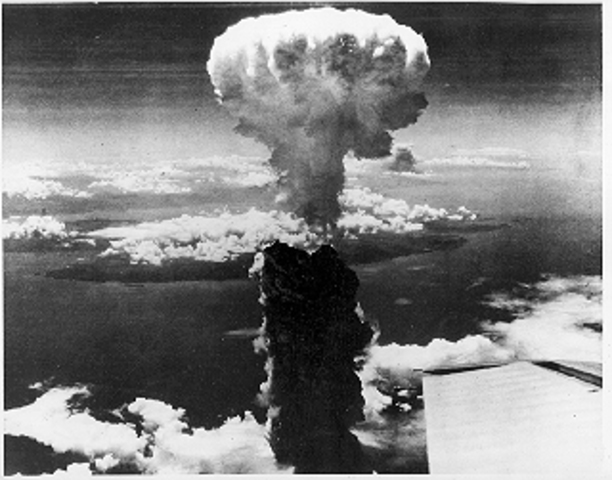 End of WWII – and dropping of atomic bombs on Japan