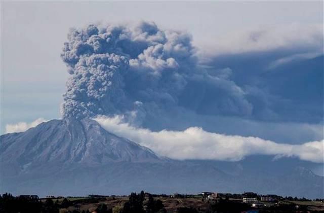 Octava erupción del Volcán Calbuco registrada
