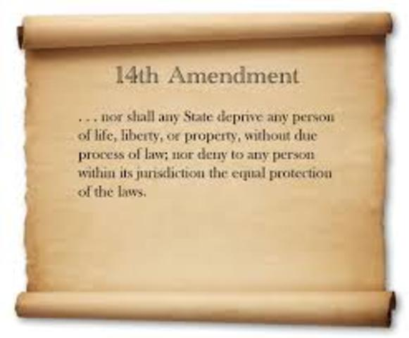 14th ammendment is ratified