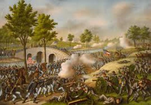 Battle of Antietam begins