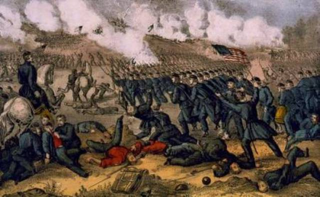 Battle of Fredricksburg begins