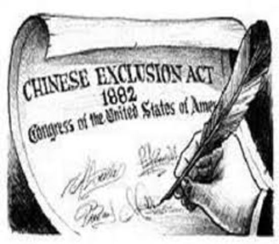 Begining of the chinese discrimination