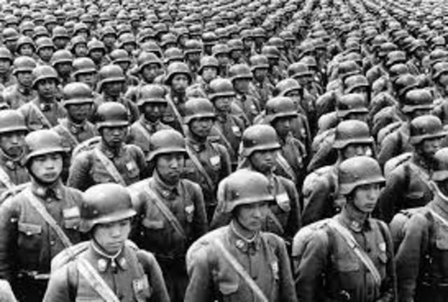 Japan entered the war