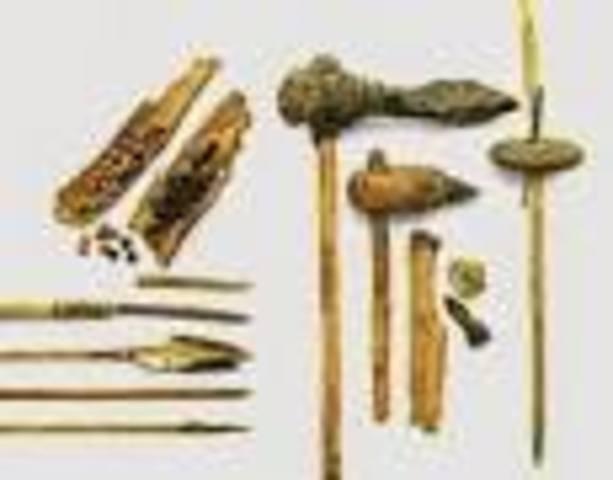 primeras hachas año 250 A.C