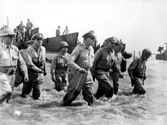 Inici de la batalla de Leyte