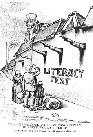 Literacy Test required for immigrants