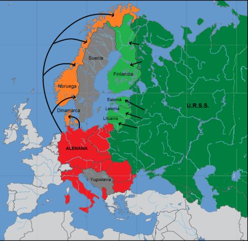 Expansió alemanya fins a Finlàndia