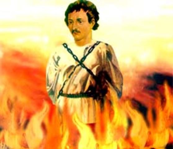 Giordano Bruno fue Quemado