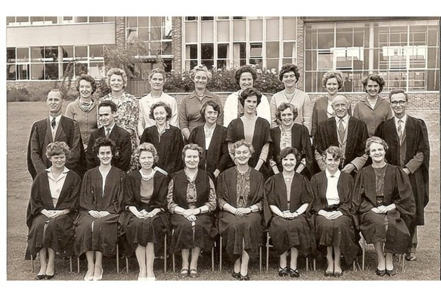 Yeovil High School For Girls Staff early 1060s