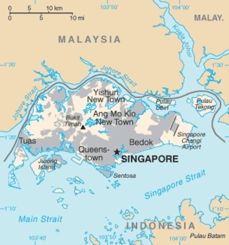 British Colony Of Singapore Founded