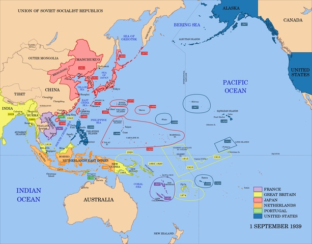 US Control Of Various Pacific Islands