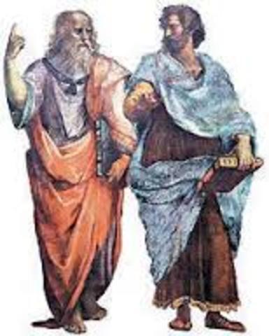 Platón y Aristóteles  ( SIGLO IV A.C- AÑO 384 A.C)