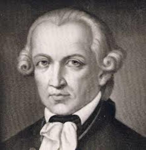 Immanuel Kant ( 1781)