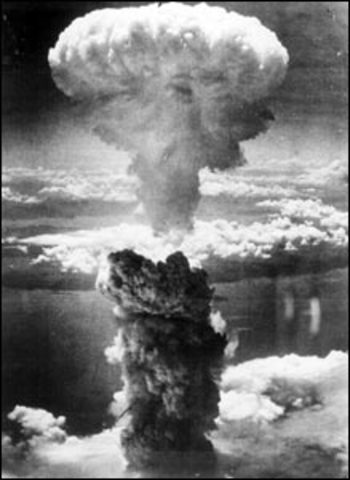 Japan surrenders when atomic bombs are dropped