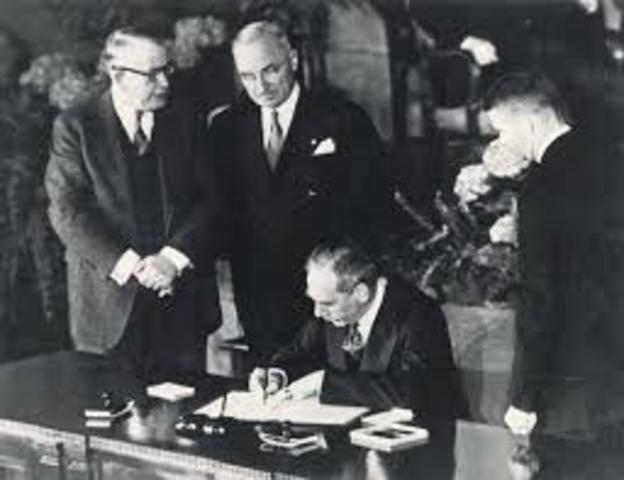 NATO Pact signed